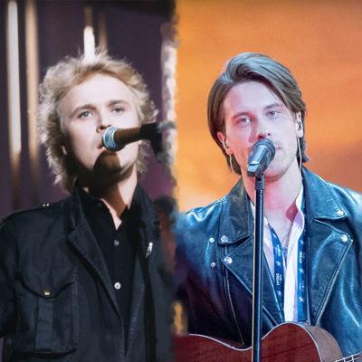 Neljä kuvaa Euroviisuista vuosien varrelta.