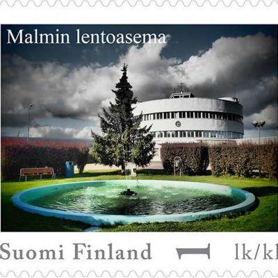 postimerkki helsinki Malmin lentoasema