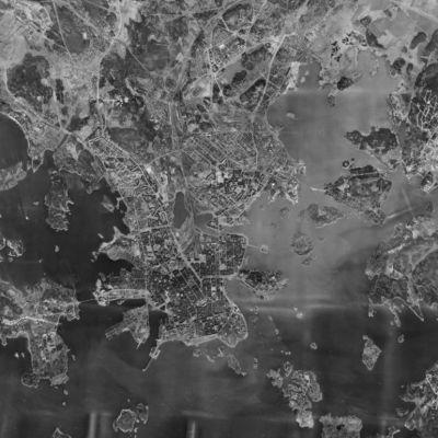 Ilmakuva Helsingistä 1950