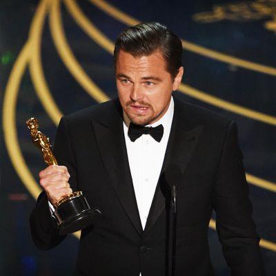 Leonardo DiCaprio Oscar-gaalassa.