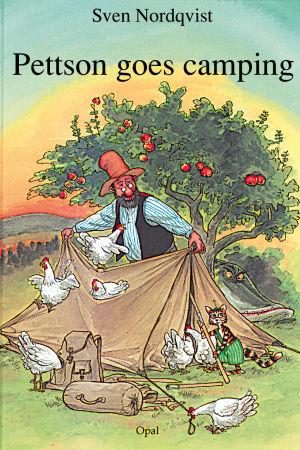 """Omslaget till boken """"Pettson tältar"""""""