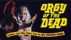 Elokuvan Orgiat hautausmaalla (1965) mainosjuliste