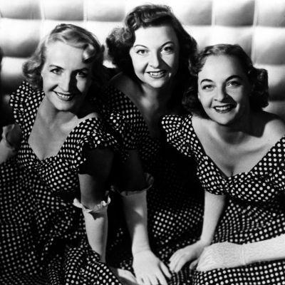 Lauluyhtye Harmony Sisters. Vera Ehnroth, Maire Ojonen ja Raija Avellan.