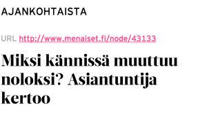 Otsikko Me Naiset -lehden nettisivuilta, kuvankaappaus Klikinsäästäjä-yhteisöstä