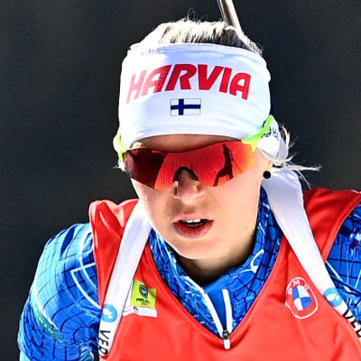 Mari Eder under skidskytte-VM 2021.