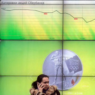 Sberbankin infonäyttö