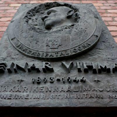 Einar Vihman muistolaatta.
