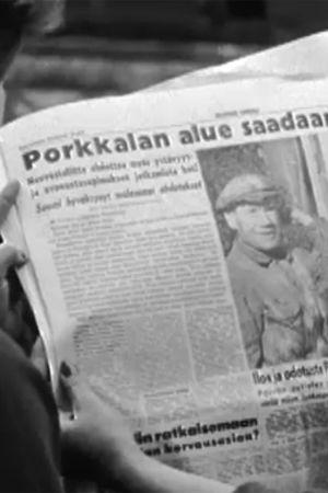 Uutinen Porkkalan palautuksesta sanomalehdessä