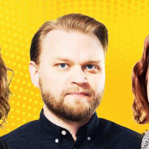 Aktin tekijät Heidi Laaksonen, Samppa Korhonen, Tiina Lundberg