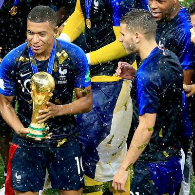 Frankrike firar VM-guld i fotboll 2018.