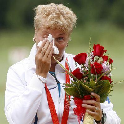 Satu Mäkelä-Nummela Pekingin olympiakisoissa 2008.