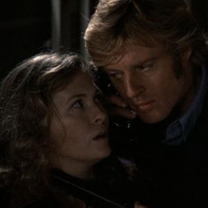 Faye Dunaway ja Robert Redford elokuvassa Korppikotkan kolme päivää (Three Days of the Condor), 1975