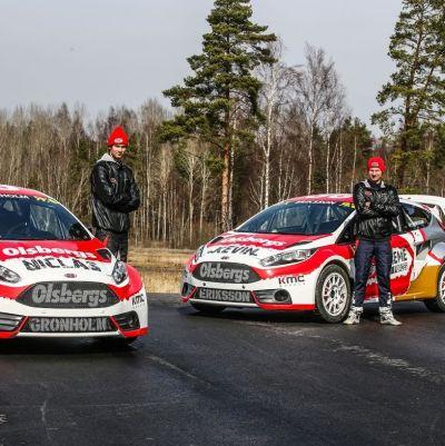 Niclas Grönholm och Kevin Eriksson är klara för VM-serien i rallycross.