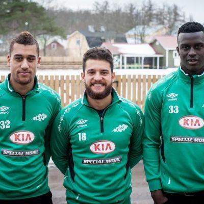Fredrik Fladby, Douglas Silveira och Lamin Jaiteh är nya i EIF:s fotbollslag.