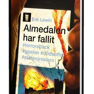 Pärmbilden av boken Almedalen har fallit av Erik Lewin.