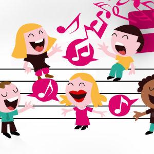 laulavia ihmisiä