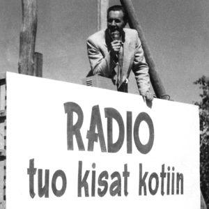 Niilo Tarvajärvi Helsingin olympialalaisissa (1952).