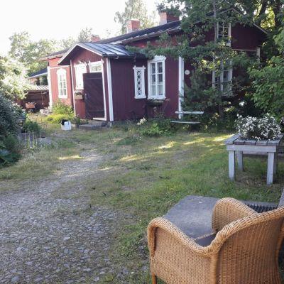 Vanha Rauma piha puutarha