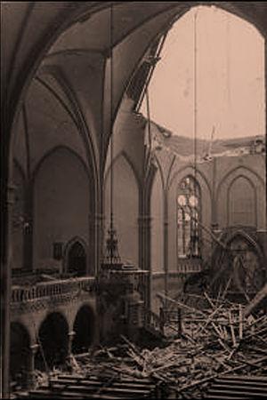 Talvisodassa tuhoutunut Viipurin Uusi kirkko.