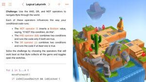 Apple vill med sitt spel Swift Playgrounds utveckla kodning med mobila enheter redan från tidig ålder.