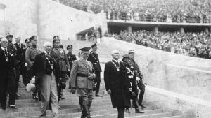 Olympiska spelens öppningsceremoni i Berlin 1936.