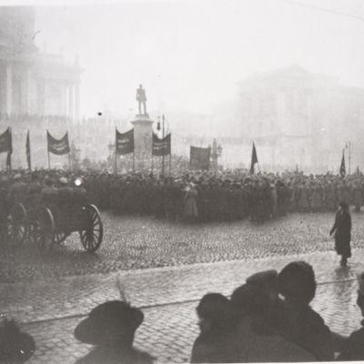 Senatstorget, gammalt fotografi av Harald Rosenberg.