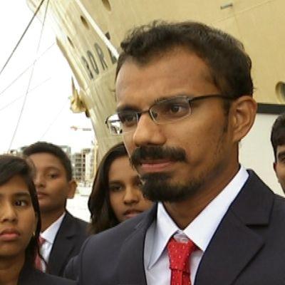 Bobollsspelaren Rishiraj Gole från Indien.
