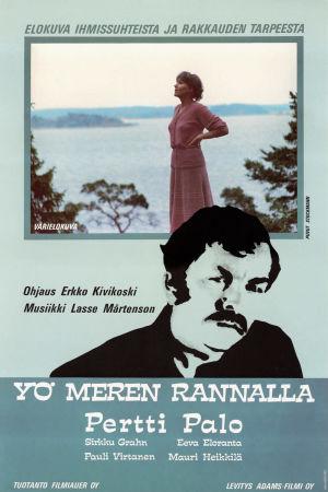Yö meren rannalla -elokuvan juliste.