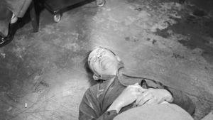 Heinrich Himmler efter sitt självmord den 23 maj 1945.