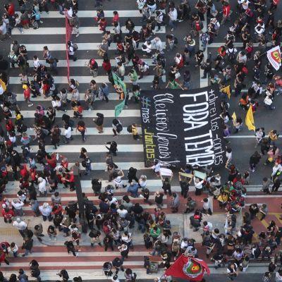 Sao Paulossa osoitteettiin mieltä uutta presidenttiä vastaan.