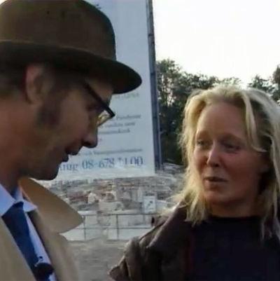 Holger Spår och en ung kvinna