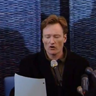 Conan O´Brien på presskonferens