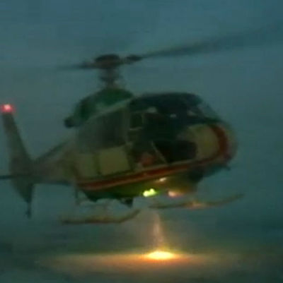 Bild på en helikopter