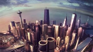 Foo Fighters -yhtyeen Sonic Highways -levyn kansi