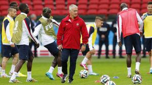 Frankrike laddar upp inför första gruppspelsmatchen mot Honduras