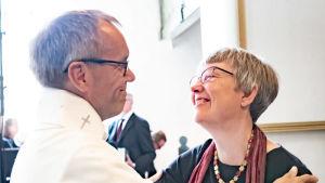 Björn Vikström med sin fru Maria