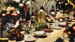 """Illustration ur Anastas Mikojans ryska kokbok """"En bok om god och sund mat""""."""