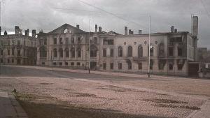 Ruinerna av Viborgs rådhus hösten 1941.