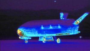 lämpäkamerakuva X-37 sukkulasta
