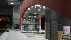 Aviapolis station vid byggnadsskede.
