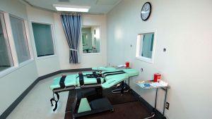 Utrustning för giftinjektion vid ett fängelse i Kalifornien