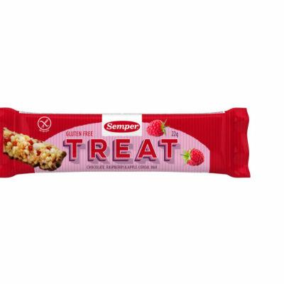Tillbakadragandet gäller produkten Treat choklad, hallon och äppel-spannmålsstänger på 22 gram med bäst före-datum 3.8.2016.