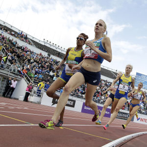 Sandra Eriksson springer i Sverigekampen.