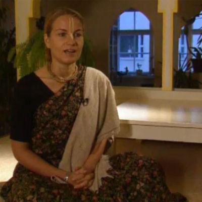 Bild på en Hare Krishna medlem