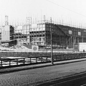 Eduskuntataloa rakennetaan 1930-luvulla.