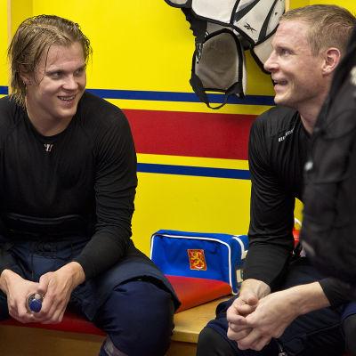Mikael Granlund och Mikko Koivu, hösten 2016.