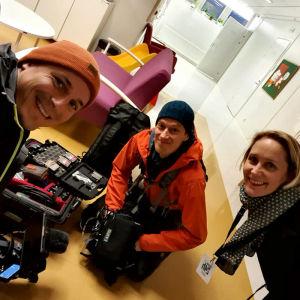 Elossa 24h - kuvausryhmä Oulun yliopistollisessa sairaalassa