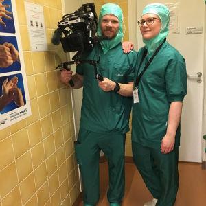 Elossa 24h - kuvausryhmä Lapin keskussairaalassa