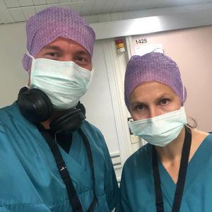 Elossa 24h - kuvausryhmä Kotkan keskussairaalassa