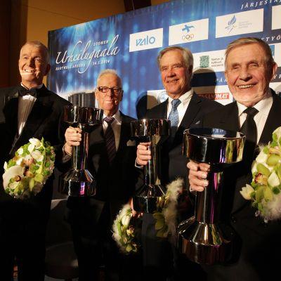 Juha Jokinen, Seppo Kannas, Anssi Kukkonen ja Pentti Salmi.